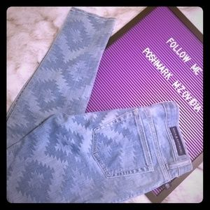 ROCK & REPUBLIC Tribal Pattern Denim